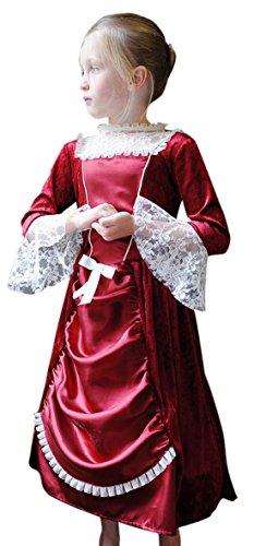 erdbeerloft - Mädchen Karneval Komplett Kostüm Miss Isabella , Bordeaux, Größe 98-110, 3-5 (Narr Kostüme Hund)