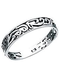 CELTIC RING STERLING SILVER filigree traditional thumb finger