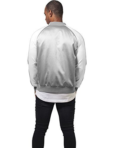 Souvenir Jacket Urban Classics Streetwear Giacca Bomber Uomo silver/offwhite