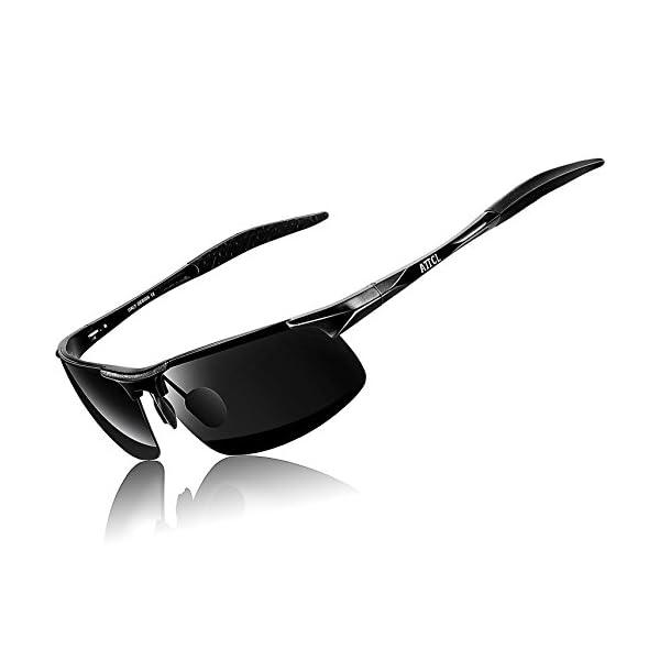 b8ca6eb5b36 Complementos ATTCL Hombre Gafas De Sol Deportes Polarizado Súper Ligero  Al-Mg Marco De Metal 8177 Black. 🔍. Envío Gratis Envío Gratis