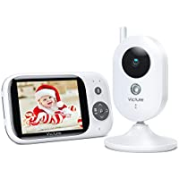 """Victure Vigilabebés Inalambrico con Cámara y Audio, Cámara de Vigilancia, Bebé Monitor Inteligente LCD de 3.2"""" Visión Nocturna Sensor de Temperatura, Charla Bidireccional, VOX, Despertador, 930mAh"""