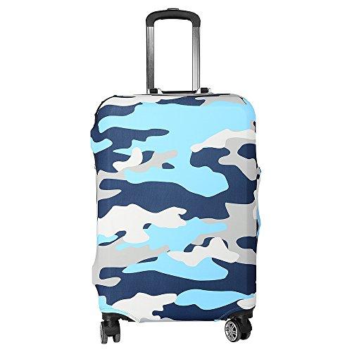ASIV Cubierta de protector equipaje con cremallera, Funda maleta suave elástico de anti-polvo (Zebra camouflage)