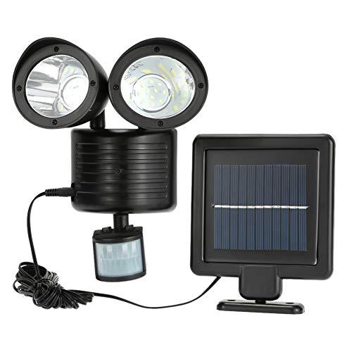 SYN Doppelter Sicherheits-Detektor Solarstrahler, Spot-Licht, Weglicht, solarbetrieben, Nachtlicht, Solarlampe, Doppel-Lampe, PIR