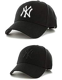64b0de91dcc SHVAS Unisex Baseball Cap Combo - Pack of 2 caps  BCGBNYCOMBO  Black