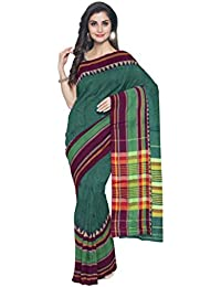 Sakhi Womens Pure Cotton Saree_DPR-1064_Multi-coloured_Free Size