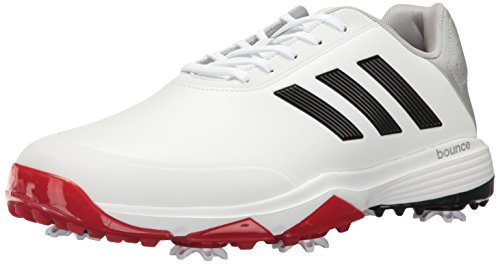 adidas Golf Men's Adipower Bounce WD Shoes, Ftwr White/Core Black/Scarlet, 11 Wide US