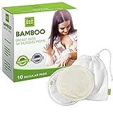 Discos de lactancia lavables de bambú orgánico