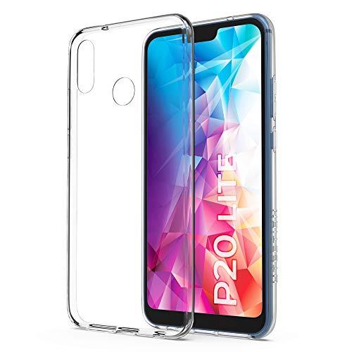 UTECTION Handyhülle Transparent für Huawei P20 LITE - Ultra Clear Flex Case durchsichtig - Robuste Silikon Hülle, leicht, passgenau - TPU Soft Schutzhülle Cover - Schutz Bumper dünn, flexibel