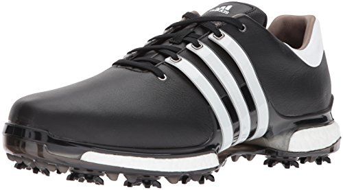 buy online e09f3 37c21 adidas Men s TOUR360 Boost 2.0 Golf Shoe Core Black White 8.5 UK
