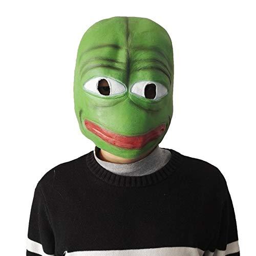 Dodom CartoonPepe die traurige Frosch-Latex-Maske, dierealistische volle Hauptkarnevals-Masken-Feier-Partei Cosplay, GRÜN verkauft