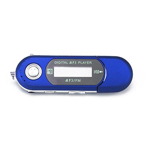 Mengonee Tragbare Mini-USB-Flash-LCD-Digital-MP3-Player-Unterstützungs-Flash 32GB TF-Karten-Slot-Musik-Spieler FM Radio (Mp3-player Und)
