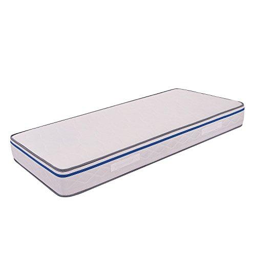 MiaSuite Easy Materasso Singolo con Schiuma a Memoria, Dispositivo Medico Ortopedico, Rivestimento Anallergico ed Antiacaro, Poliuterano, Bianco, 80x190x22 cm