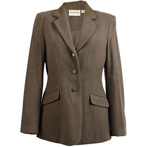 Dublin, giacca da donna in tweed in stile Cubbington, Green