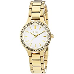 DKNY Ladies'Watch XS Analogue Quartz Stainless Steel Coated NY2221
