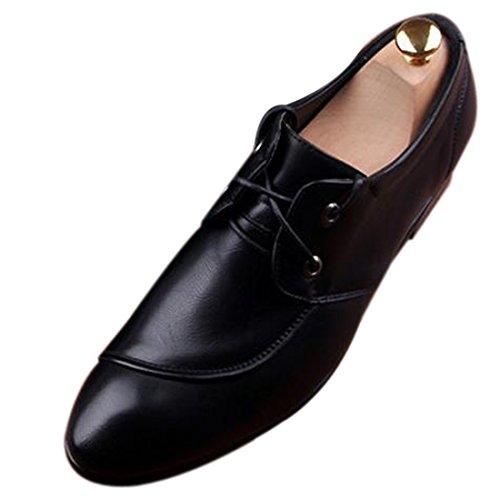Mode Hommes En Cuir Elegant Pu Nouveau Design Haut De Gamme Chaussures Respirant Nouvelle Robe Noir