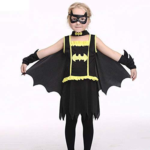Kostüm Muster Batman - AIYA Halloween Kinder Cosplay Kostüm Batman Rollenspiel Set