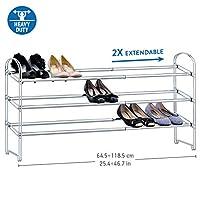 Tatkraft Shoe Rack, Stable, Durable and Sturdy