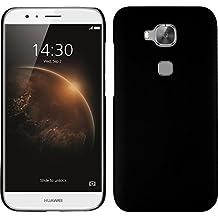 Funda Rígida para Huawei G8 - goma negro - Cover PhoneNatic Cubierta + protector de pantalla