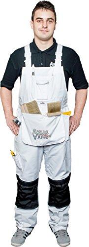 Axus Décor Wbbs 32–86,4klein Taille Maler Latzhose–Weiß