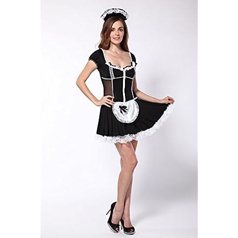 ZOYOL Divertimento donna abbigliamento nera cameriera uniformi costumi Cosplay cameriera servizio , black , m