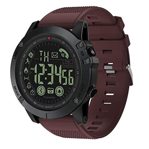 Digital Sports Smart Watch Military Grade Super Tough Outdoor Sports Talking Watch Waterproof Pedometer Calorie Counter Multifunction Bluetooth Smart Watch (Rot) -