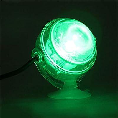 Nrpfell Lampe sous-Marine a LED Lumiere d'aquarium Etanche a Prise UE 110V 220V LED pour Corail Recif Aquarium Lumiere d'aquarium Submersible Lampe projecteur Vert