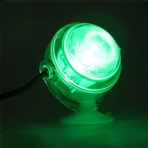SODIAL LED Unterwasserlampe Wasserdichte LED Eu-stecker 110 V 220 V Aquarium Licht Fuer Korallenriff Aquarium Tauch Aquarium Licht Spot Lampe Gruen -