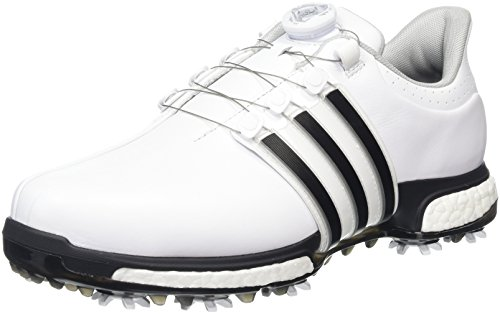 adidas Herren Tour 360 Boa Boost Golfschuhe, Weiß (White/Core Black/Dark Silver Metallic), 42 EU