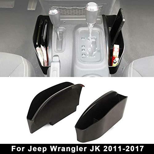 Caja de Almacenamiento Lateral de La Consola del Cambio de Marchas, Bandeja del Organizador Lateral de La Transmisión Manual Compatible Para Jeep Wrangler JK JKU 2011-2018, Accesorios Interiores