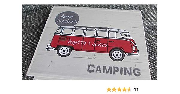 Camping-Reise-Tagebuch für Wohnwagen PERSONALISIERBAR Ringbuch DIN A5