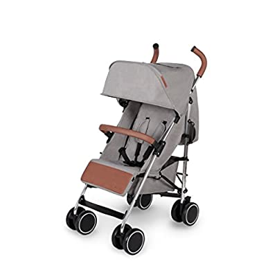 Ickle Bubba Baby Strollers | Lightweight Stroller Pushchair | Compact Fold Technology for Easy Transport and Storage | UPF 50+ Extendable Hood and Rain Cover | Discovery, Grey/Silver