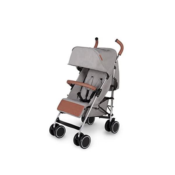 Ickle Bubba Baby Discovery Stroller| Lightweight Stroller Pushchair | Compact Fold Technology for Easy Transport and Storage | UPF 50+ Extendable Hood | Grey/Silver Ickle Bubba ONE-HANDED 3 POSITION SEAT RECLINE: Baby stroller suitable from 6 months to 22kg. 4 years old; features rain cover UPF 50+ RATED ADJUSTABLE HOOD: Includes a peekaboo window to keep an eye on the little one; extendable hood-UPF rated-to protect against the sun's harmful rays and inclement weather LIGHTWEIGHT DESIGN WITH COMPACT FOLD TECHNOLOGY: Easy to transport, aluminum frame is lightweight and portable-weighs only 7kg; folds compact for storage in small places; carry strap and leather shoulder pad included 1