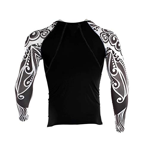 DNOQN Herren Hemden Langarm Achselshirt Mode Herren Yoga Fitness Soft T-Shirt Schnelltrocknende Sport Druck Top Bluse XL
