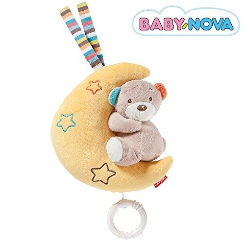 Baby-Nova Spieluhr – Einschlafhilfe für Babys – Teddy Bär, Eule oder Stern - Melodien LaLeLu, Schlaf Kindlein schlaf, Brahms oder Mozarts Wiegenlied