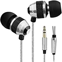 Betron B-25 Noise Isolating in Ear Canal Headphones Earphones with Pure Sound and Powerful Bass for iPhone, iPad, iPod, Samsung, Nokia, HTC, Mp3 Players etc (Silver-Black)