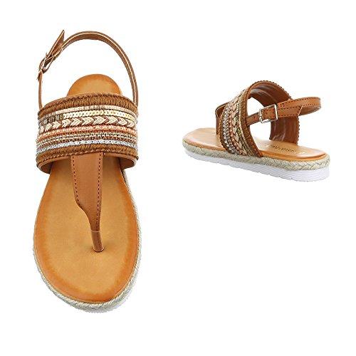 Ital-Design , Escarpins peep-toe femme Camel