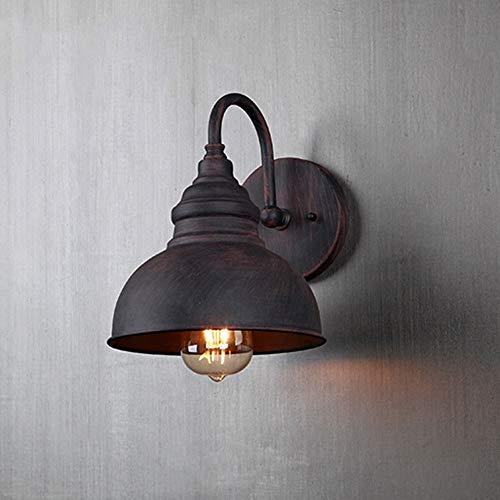 ZSAIMD Vintage Industrial Outdoor/Indoor Wand Laterne wasserdichte Außenwand Lampe Licht für Veranda Hof Garage Dekoration 1-Licht E27 Edison Leuchten Beleuchtung Eisen Metall Leuchte -