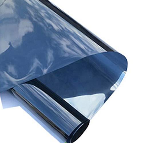 Fensterfolien Sonnenschutzfolie Glas Sonnenschutzfolie Isolierung Fenster Solarfolie Selbstklebende Einweg Perspektive Fenster Verdunkelung Sichtschutz (Color : Blue, Size : 80 * 500cm) (Tönungsfolie 80)