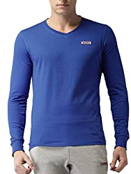 2GO Casual V-Neck Full Sleeves Cotton T-Shirt