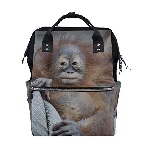 Petite And Pleasant Finger Monkey Große Kapazität Wickeltaschen Mummy Rucksack Multi Funktionen Windel Wickeltasche Tote Handtasche Für Kinder Babypflege Travel Daily Women