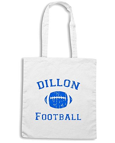 T-Shirtshock - Borsa Shopping FUN1215 Dillon Football Bianco