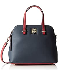 Tommy Hilfiger Th Twist Medium Satchel Colourblock , Bolso con asas Mujer
