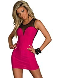 4633 Minikleid aus Stretch-Stoff robes dress 2 farben verfügbar