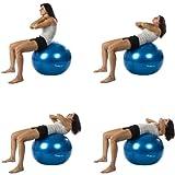 MOVIT® Gymnastikball inklusive Pumpe, 65cm bzw. 75cm, 7 Farben, Maximalbelastbarkeit bis 300kg, berstsicher -