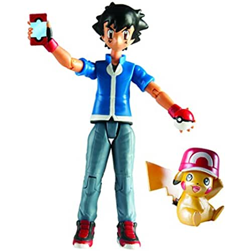 figuras kawaii Pokemon Pikachu and Ash Figure Set: Pokemon 20th Anniversary San Diego Comic Con Exclusive Set by Pokemon Center