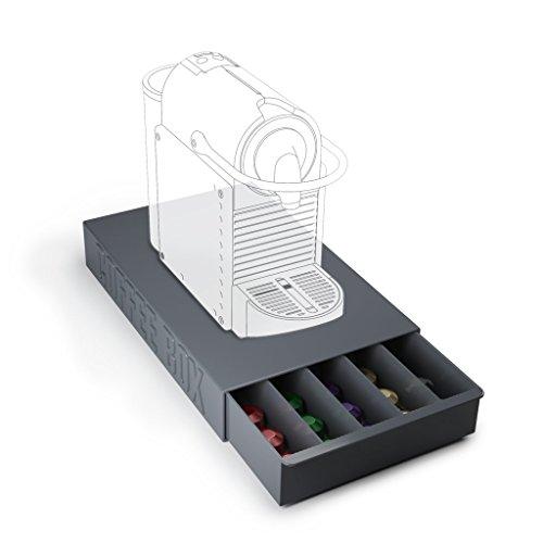 Balvi   Coffee Box caja para guardar cápsulas de café y apoyar tu cafetera
