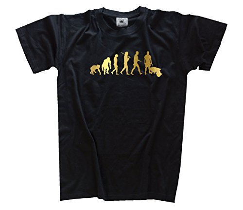 Shirtzshop T Shirt Gold Edition Carriola cantieri Costruttori Evolution nero