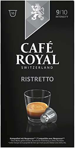 Café Royal Ristretto, 50 Nespresso kompatible Kapseln, 5er Pack (5 x 10 Kaffeekapseln)