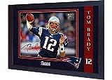 SGH SERVICES Fotodruck, gerahmt, mit Autogramm von Tom Brady New England Patriots NFL, NFL, Signiert, gerahmt, MDF-Bilderrahmen