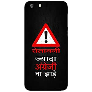 Bhishoom Designer Printed Back Case Cover for Micromax Canvas Knight 2 E471 (Humor :: Humour :: Quirky :: Funny :: Angreji)